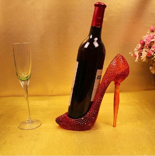 d17e630f2687 Resin Red Stiletto High Heel Shoe Wine Holder For Girl Birthday Gift ...