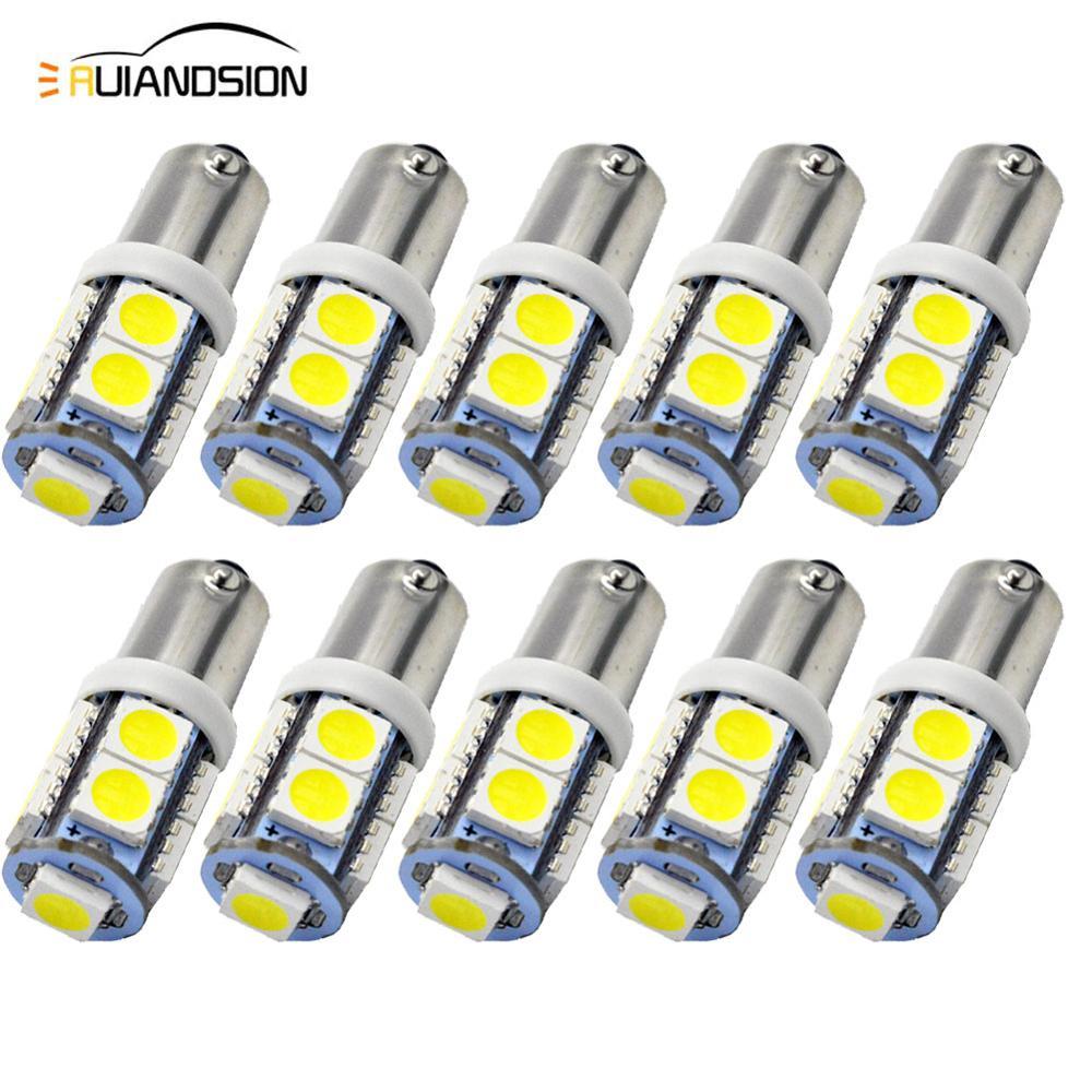 10Pcs T11 H6W T4W 1895 BA9S Led F10 1SMD LED Light Bulb Lamp 12V DC White