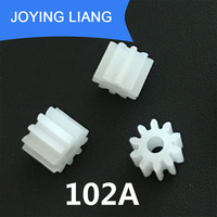 102A 0.5M Pinion 10 Tooth Plastic Gear Tight for 2mm Motor Shaft Modulus 0.5 DIY Toy Accessories 5000PCS/BAG
