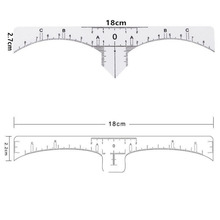Disposable Accurate Microblading Ruler Clear Tattoo Measurement Sticker Mark For Permanent Makeup Eyebrow Shaping