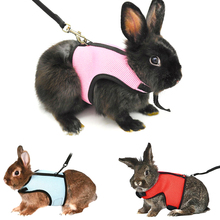 Small Animal Pet Hamster Rabbit Bunny Squirrel Guinea Pig Rat Ferret Soft Comfort Breathable Mesh Harness And Leash Lead Set