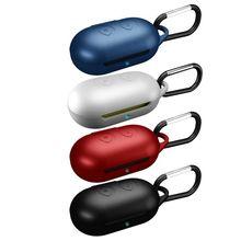 Étui de protection complet en Silicone souple antichoc à ouverture à clapet pour Samsung Galaxy bourgeons sport Bluetooth