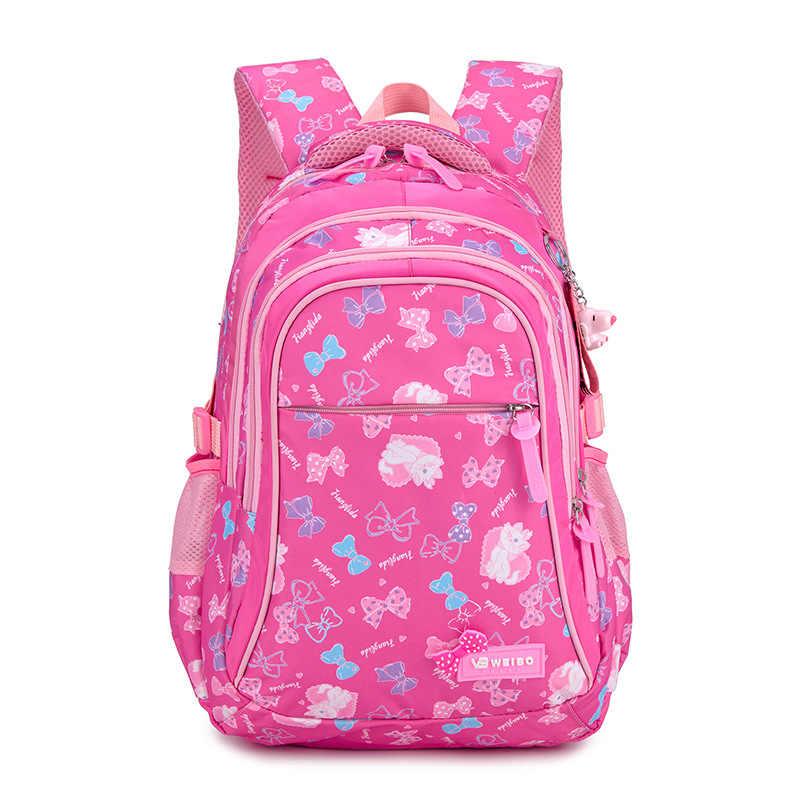 BAIJIAWEI новый красочный рюкзак с принтом водонепроницаемые детские школьные сумки милая сумка для девочек модный нейлоновый студенческий рюкзак