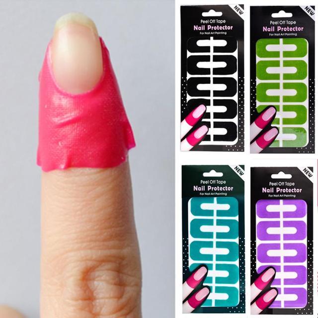 10Pcs Manicure Tool Anti Overflow Stick U Type Oil Spill Protector ...