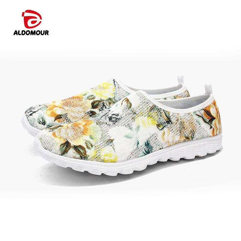 ᗔAldomour Zapatillas para correr para las mujeres slip-on zapatos ...