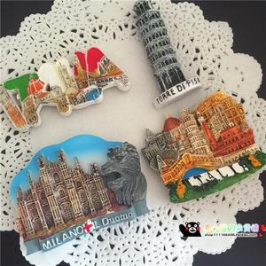 Handmade Painted Milan Lions 3D Fridge Magnets Italy Tourism Souvenirs Refrigerator Magnetic Stickers Home Decortion