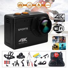 4K HD 8MP WiFi Sports Action Camera Video Camcorder 2.0″ LCD 24Pcs Accessories Kits Waterproof For Android IOS