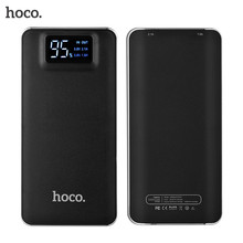 HOCO Power Bank 10000mAh Large Capacity Ultra-thin Mobile Powerbank Fast Charger With LED Flashlight External Battery Pack LCD