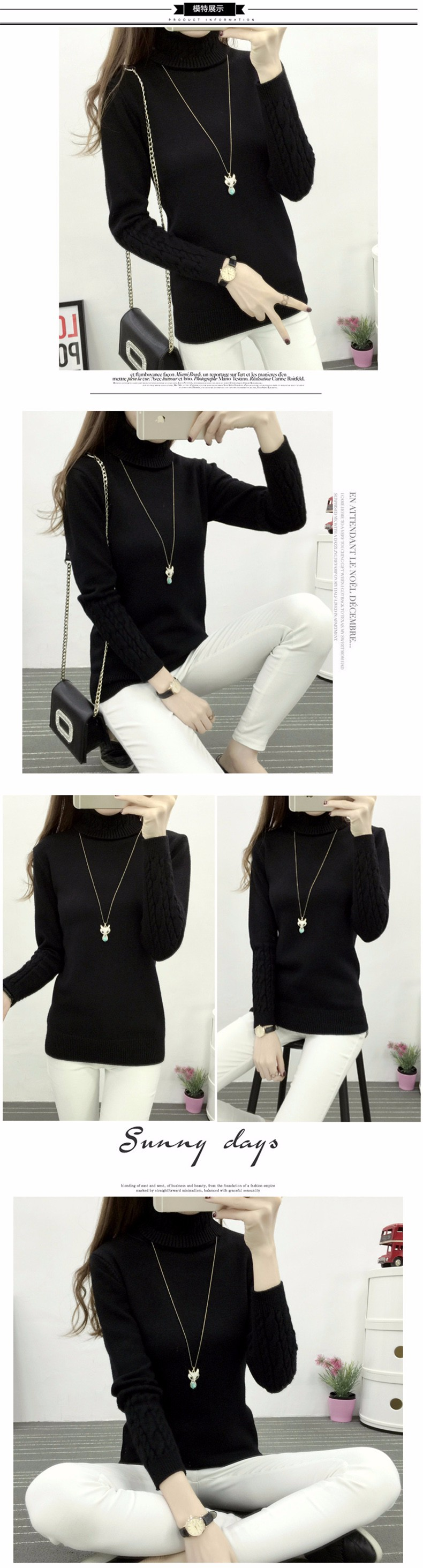 Женский свитер 2015 Thincken