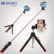 3 en 1 Autorretrato Monopod de Mano y mini Trípode BENRO Palo Autofoto teléfono w Bluetooth Disparador Remoto para iPhone Sumsang Gopro