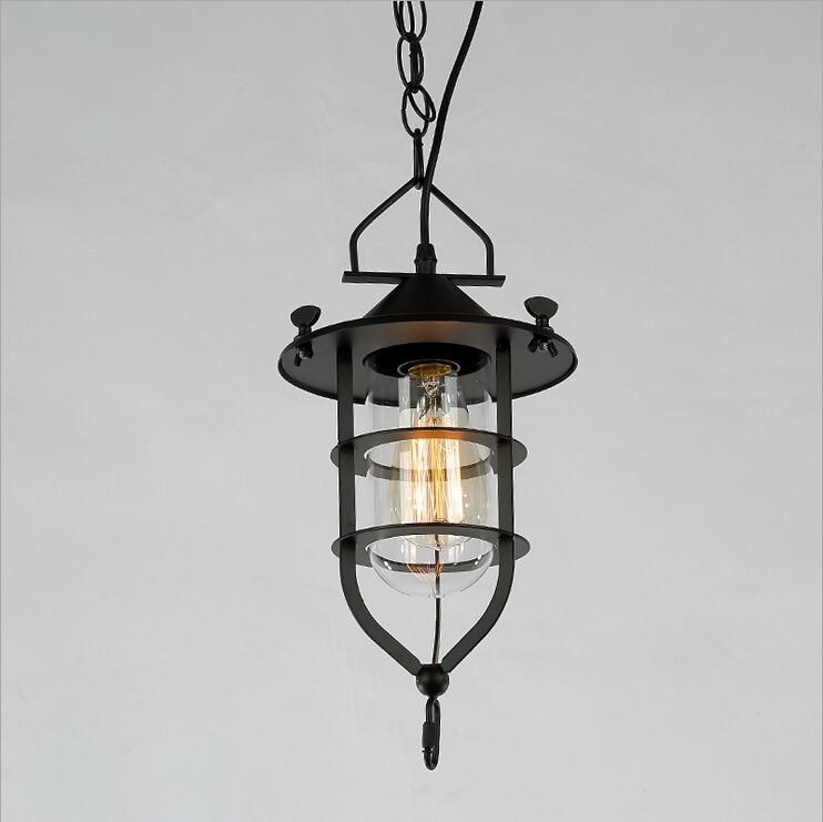 Nordic Finland Iceland Loft vintage garden living room dining American wind industry  lighting iron chandelier bar hotel lamp