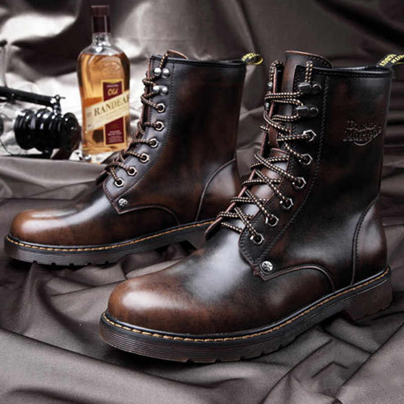 Aliexpress.com : Buy Genuine Leather Winter Ankle Boots For Men