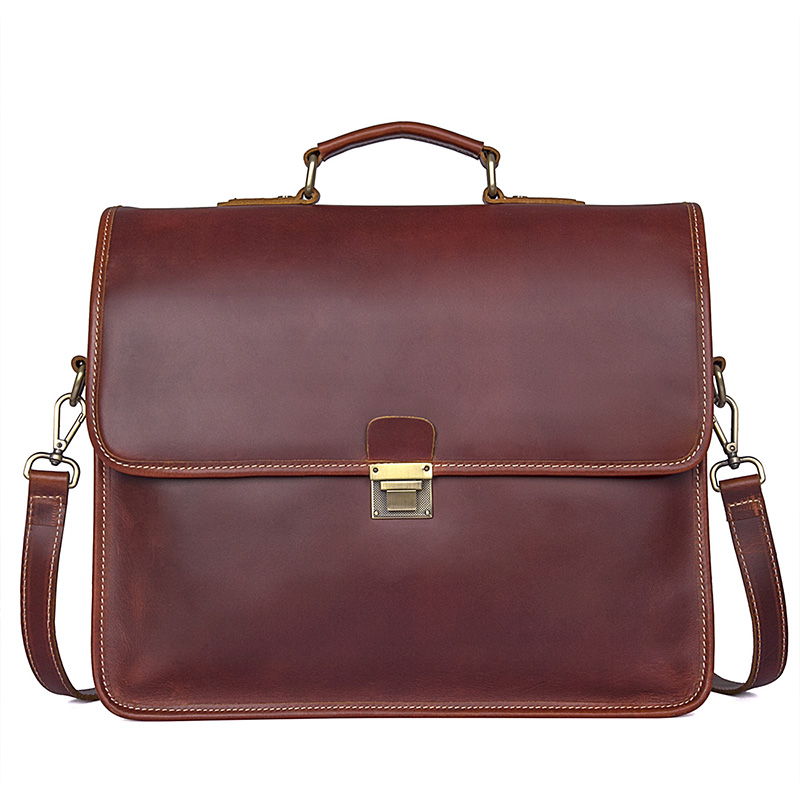 16 Laptop Business Brown File Briefcase Handbag Bags 100%Cow Leather Men Vintage Brand Designer High Quality Layer Handbags bosch tassimo suny tas3202