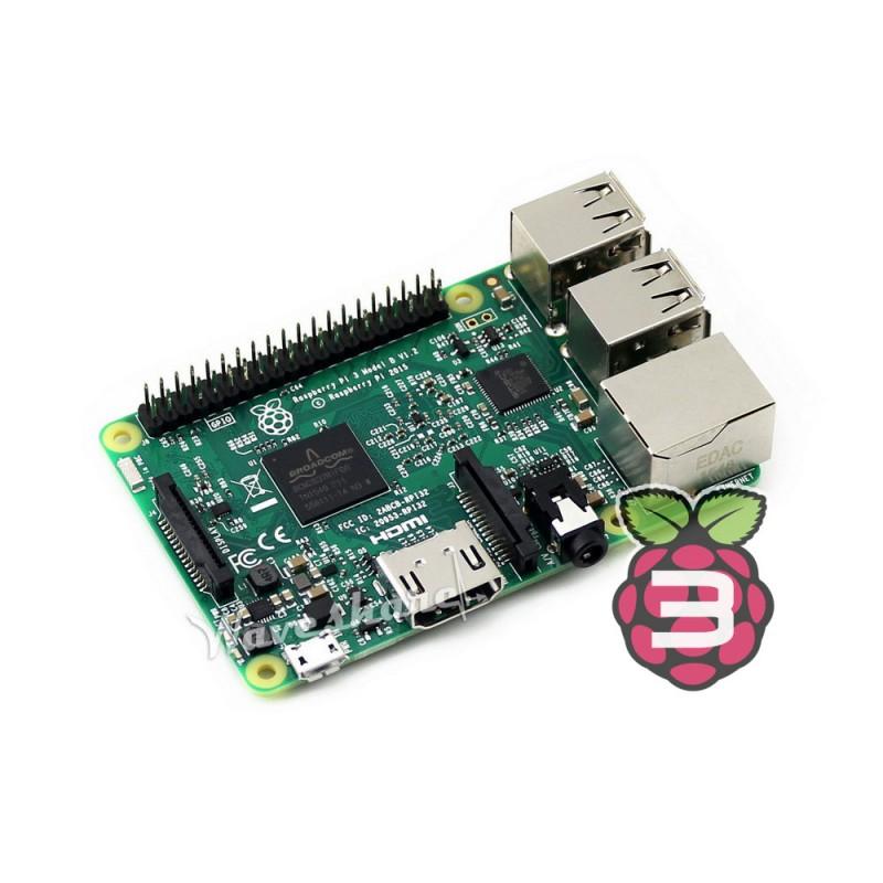 Prix pour Raspberry Pi 3 Modèle B 1.2 GHz 1 GB RAM 64bit Quad-core ARMv8 CPU Mini PC Prend En Charge WiFi et Bluetooth