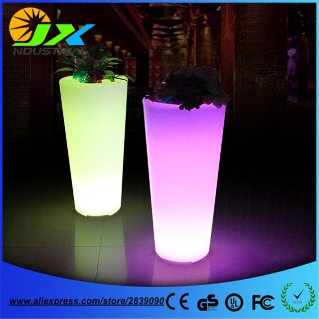 waterdichte oplaadbare batterij multi color changing led plant pot afstandsbediening led bloempot outdoor verlichte tuin