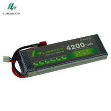 Limskey POWER 7.4V 4200mAh 25C 2S LiPo Battery With T/XT60 Plug for RC Car Airplane Helicopter 7.4 V 4200 mah 2S Lipo Battery(China)