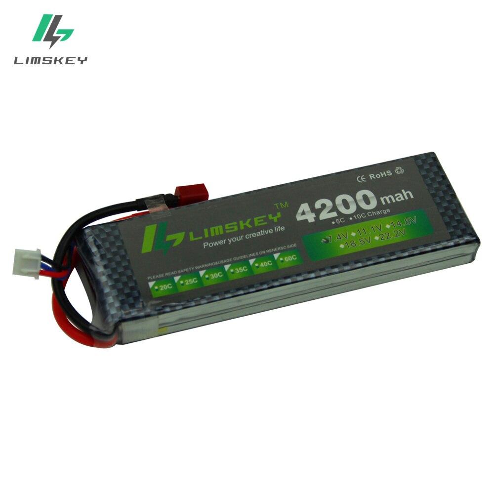 Limskey PUISSANCE 7.4 V 4200 mAh 25C 2 S LiPo Batterie Avec T/XT60 Plug pour RC Voiture Avion Hélicoptère 7.4 V 4200 mah 2 S Lipo batterie