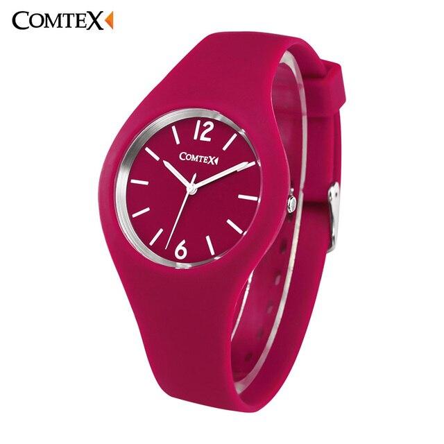 67de02d2f6528 COMTEX Watch Women Fashion Casual Quartz Watch Silicone Clock Luxury Watch  Women Sport Women Waterproof Clock Montre Femme Reloj