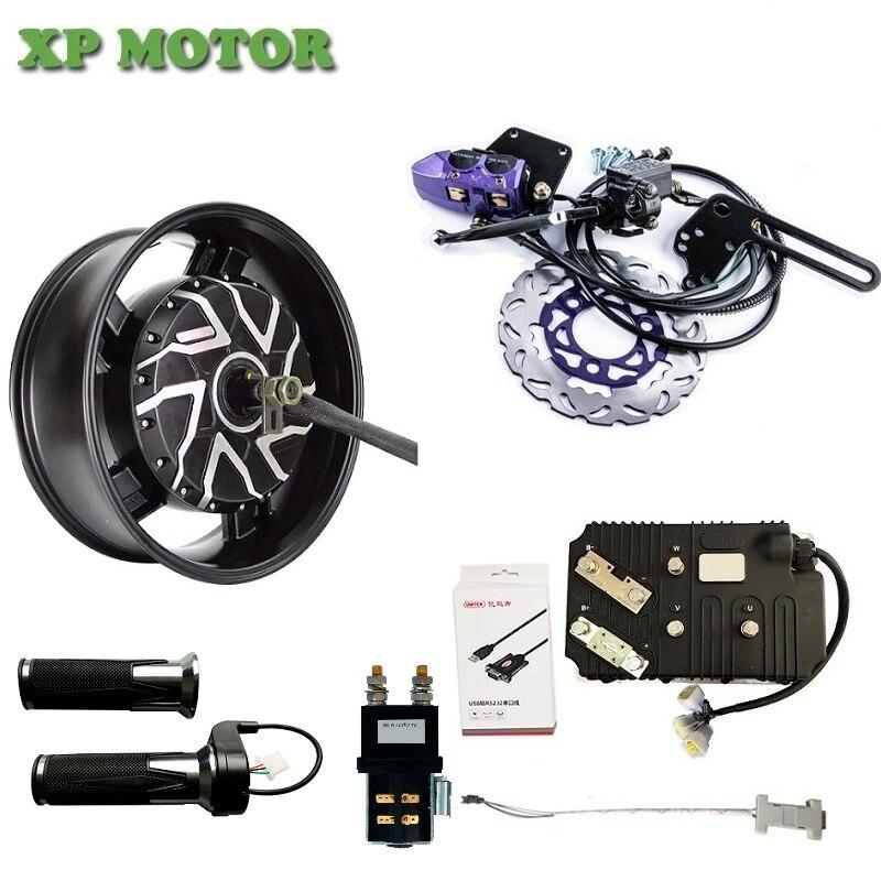 QSMOTOR 10KW 6 0x17inch Electric Motorcycle Hub Motor Kits