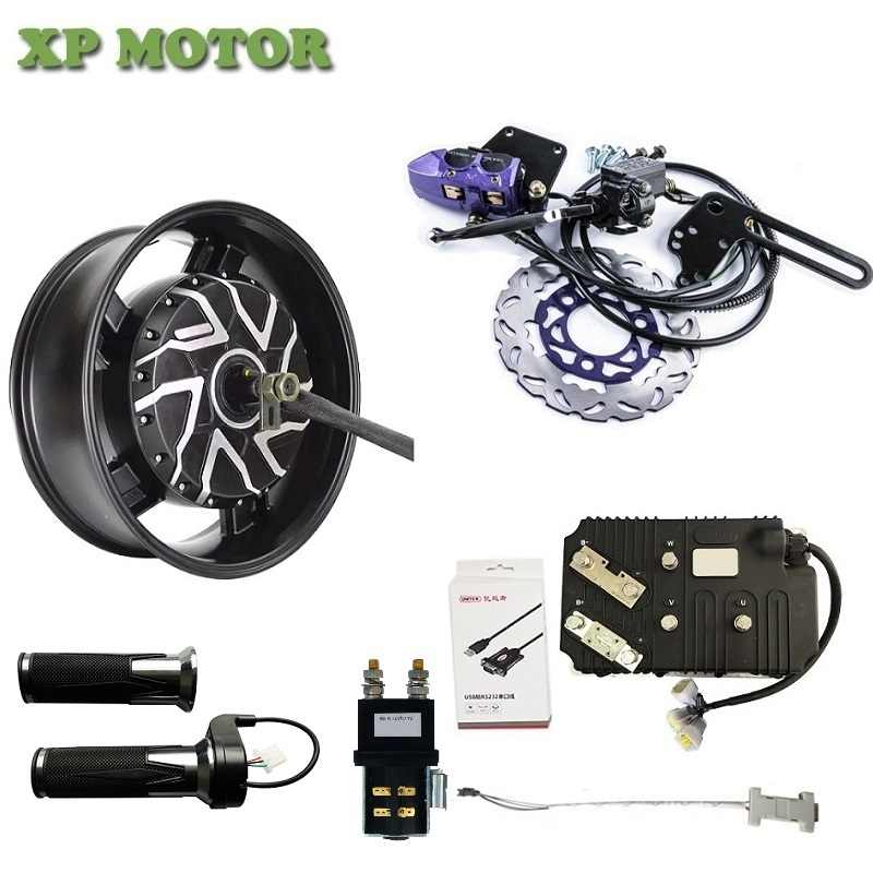QSMOTOR 10KW 6.0x17inch Electric Motorcycle Hub Motor Kits