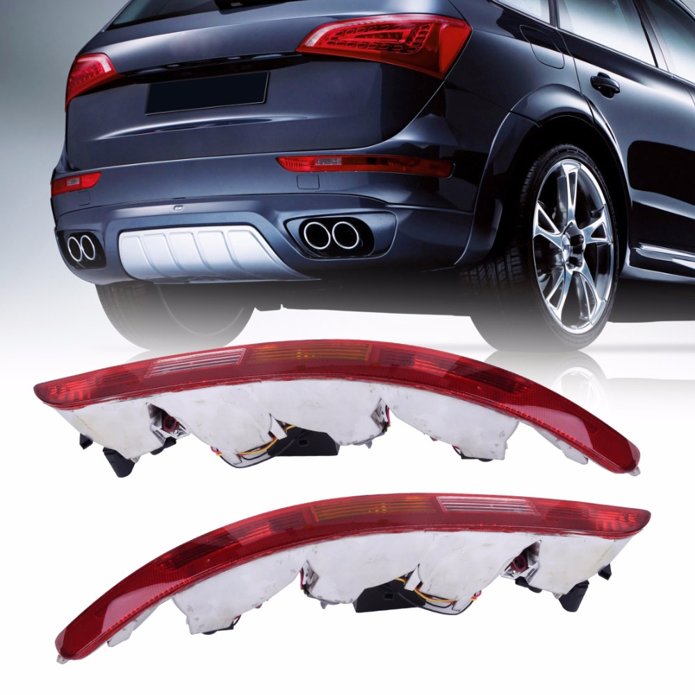 New Rear Left + Right Side Lower Bumper Taillight Reverse Fog Lamp Assembly Kit for Audi Q5 2009 - 2011 2012 2013 2014 2015 2016 стоимость