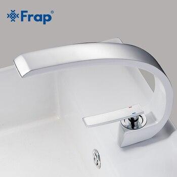 FRAP Basin Faucets Modern Bathroom Mixer Tap Brass Washbasin Faucet Single Handle Hole Elegant Crane For Y10124 - discount item  55% OFF Bathroom Fixture