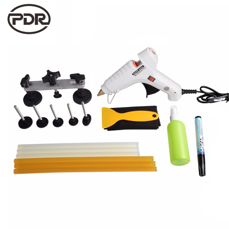 PDR Toolkit Auto Repair Tool To Remove Dents Car Body Repair Paintless Dent Repair Pulling Bridge 12 v Glue Gun quicktime toolkit volume one