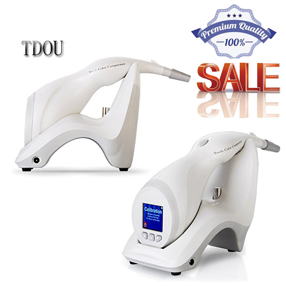 TDOUBEAUTY Teeth Color Comparator Dental Digital Shade Guide Tooth Color Comparator 110V-240V,50-60Hz  Free Shipping tdoubeauty dental greeloy silent oil free air compressor ga 62 free shipping