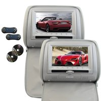 2PCS Car DVD Player Multimedia Headrest Pillow 7 Auto Monitor Remote Control Support IR FM Transmitter