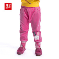 עיצוב ארנב חמוד לחצן בנות תינוק בגדים פעוט בנות מכנסיים 2015 אביב/סתיו מכנסיים תינוק