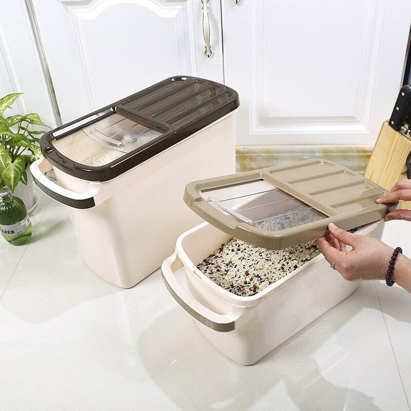 Boîtes de rangement créatives en plastique pour poulie à courroie organisateur cuisine à domicile résistant à l'humidité boîtes de rangement pour débris de cylindre de riz résistant aux insectes