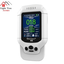 PM1.0 PM2.5 PM10  Temperature Humidity Meter PM 2.5 Gas Analyzer Home Protection AQI Air Quality Monitor HCHO TVOC Detector все цены