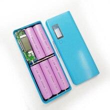 Portable DIY 5x18650 Powerbank Pover Power Bank 18650 Power Bank Case Box Dual USB Kit Phone Charger LCD Flashlight Welding Free