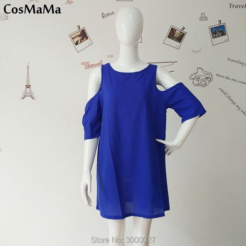 Rzeczywiste zdjęcia 2017 Odzież marki CosMaMa moda damska desigual lato trapless krótkie rękawy szyfonowa długa seksowna sukienka