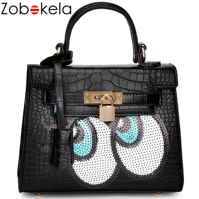 ZOBOKELA designer brand women leather handbags fashion eyes shoulder bag  women messenger bags small bag dollar d52e538d8e05a