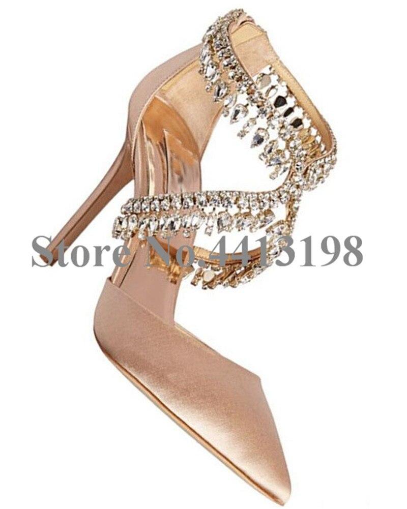 Pompes Pointu Croix As Mode Nouveau Chaussures Zip Picture Talons Haute Cristal Mince liée Mariage automne Printemps De Femmes Nu qPqx0wE