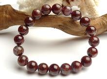 цена Genuine Natural Auralite 23 Canada Round Beads Bracelet Crystal 10mm Red Purple Women Men Stone Rarest Bracelet Jewelry AAAAA онлайн в 2017 году