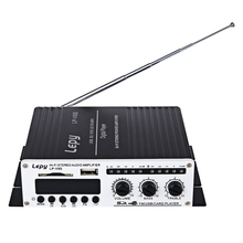 Lepy LP-V9S Max 180W 20Hz -10KHz 2CH Mini protable Hi-Fi Stereo Digital Power Amplifier Amp USB SD DVD CD FM MP3 + Power Adapter