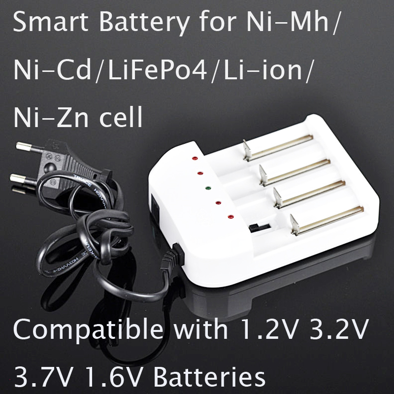 1 stücke smart ladegerät für 1,2 V ni-cd ni-mh 3,7 v li-ion 1,6 V ni-zn 3,2 v lifepo4 AAA AA 10440 14500 18650 26650 16340 ZELLE