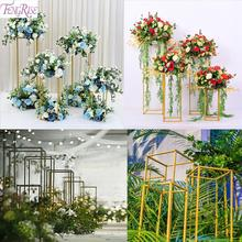 FENGRISE Flowers Vase Column Stand Wedding Event Party Decor Birthday Engagement Decoration Christmas