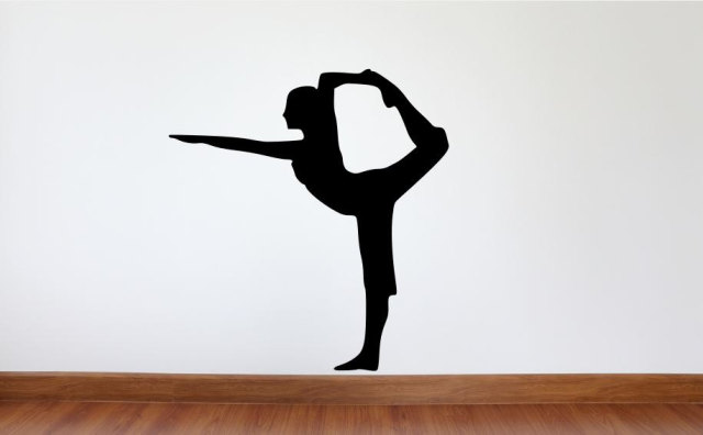 Yoga Studio Wall Decal Lord Of The Dance Pose Vinyl Silhouette - Yoga studio wall decals