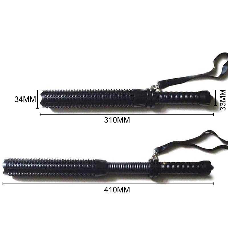 Powerful Telescopic Baton LED Flashlight Self-defense Telescope Stick Flash Light Tactical Equipment Zoomable XPE 18650 Torch