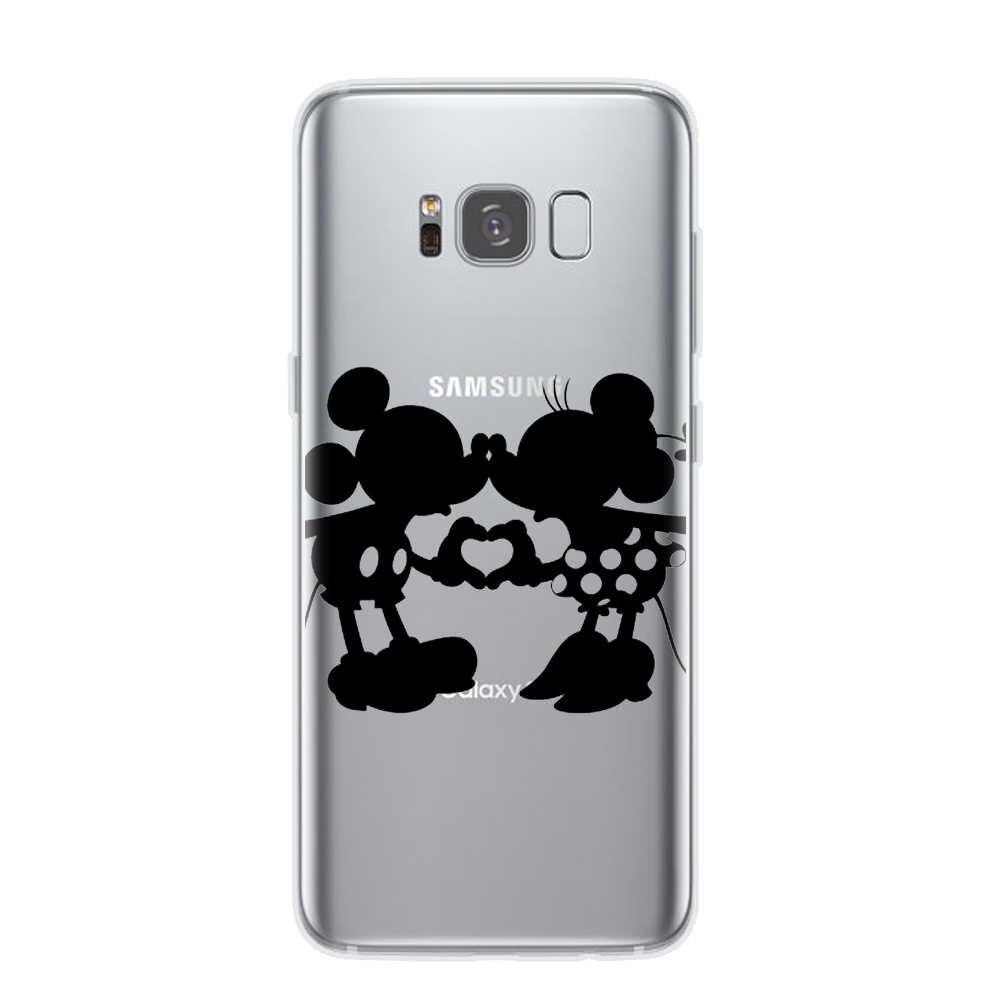 Patrón de mariposa de dibujos animados suave TPU funda trasera de silicona para Samsung Galaxy S7 S6 Edge S8 S9 S10 Plus S10E 5G Cuque