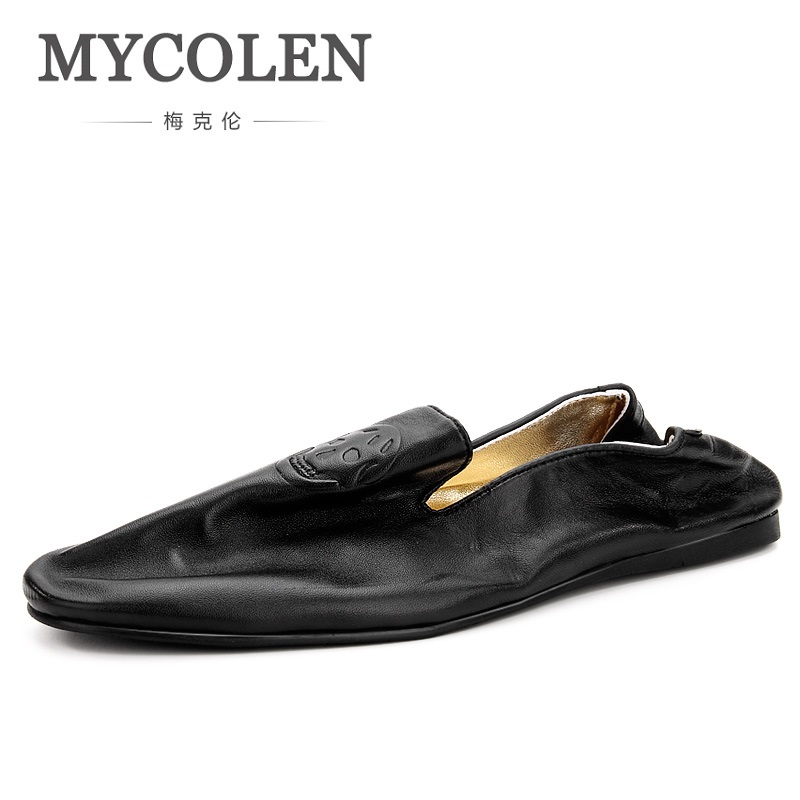 MYCOLEN New Style Fashion Men Casual Shoes Luxury Designer Genuine Leather Comfortable Mens Shoes Zapatos Para Hombre Casual new fashion men luxury brand casual shoes men non slip breathable genuine leather casual shoes ankle boots zapatos hombre 3s88