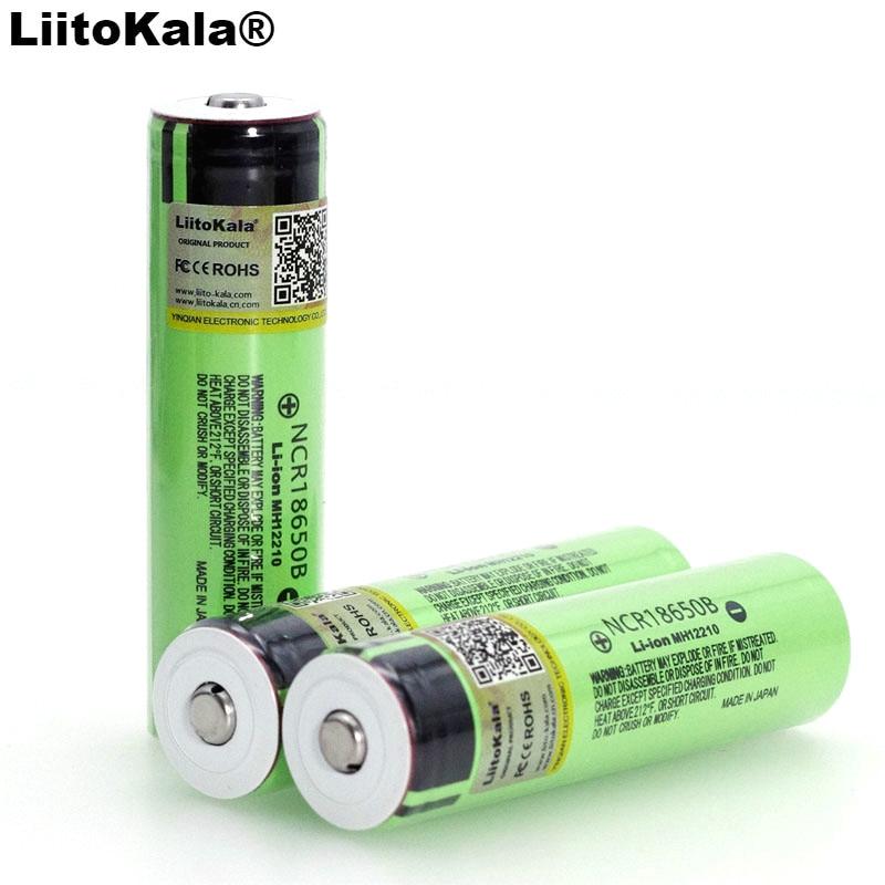 2019 liitokala original ncr18650b 3.7 v 3400 mah 18650 bateria recarregável de lítio com apontado (sem pcb) baterias