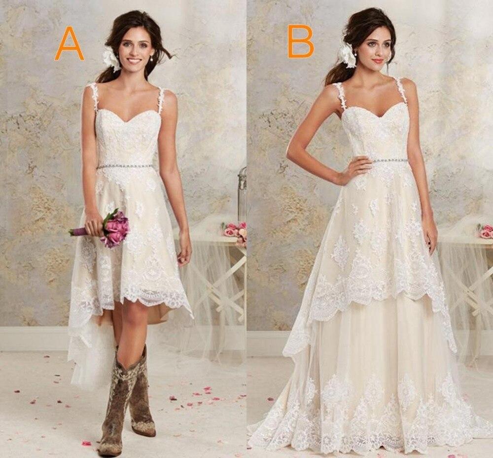 Cheap Lace Wedding Dress Garden