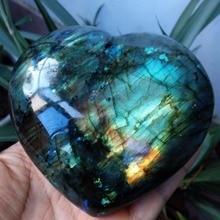 Лабрадорит сердце лунный камень позитивная энергия рейки драгоценные камни Кристаллы сердце Исцеление