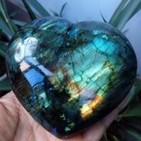 Labradorite Heart Moonstone Positive Energy Reiki Gems Crystal Heart Healing
