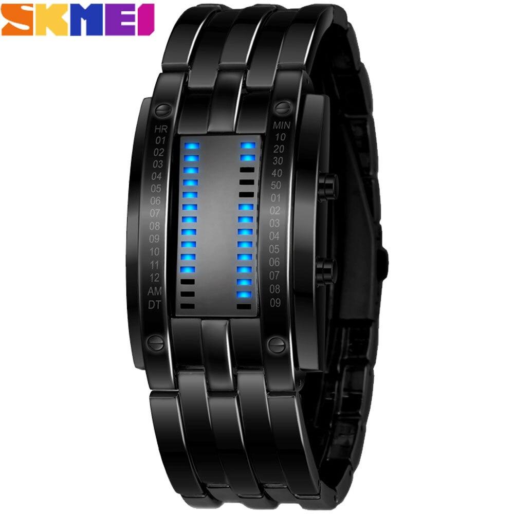 SKMEI Popular Brand Men Fashion Creative Watches Digital LED Waterproof Lover's Wristwatches Relojes Hombre 2019 Marcas Famosas