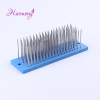 1pcs Blue Color Hair Hackle With 93 Pcs Needle For Comb Machine Weft Small Steel Comb